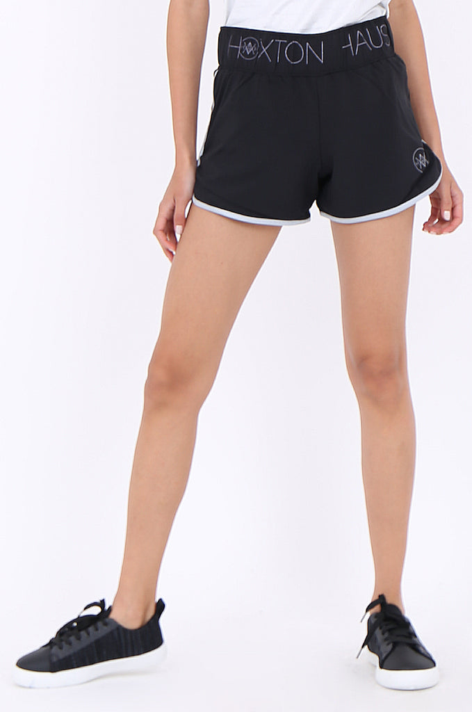 SWS1949-BLACK PIPING DETAIL ACTIVE SHORTS view 5