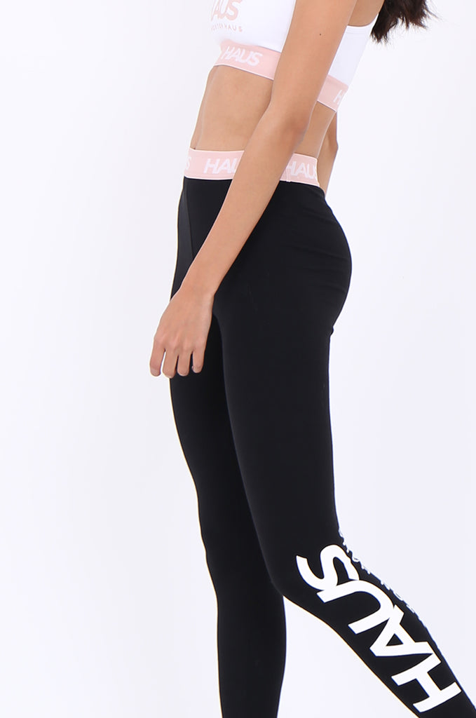 SWS1952-BLACK CONTRAST WAISTBAND ACTIVE LEGGINGS view 4