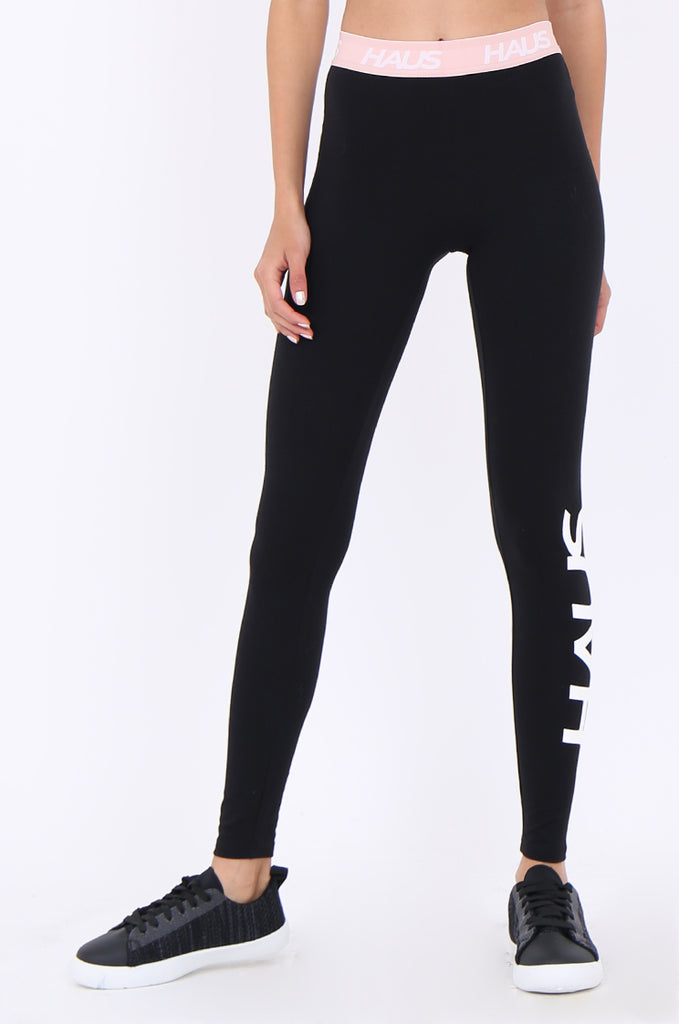 SWS1952-BLACK CONTRAST WAISTBAND ACTIVE LEGGINGS view 5