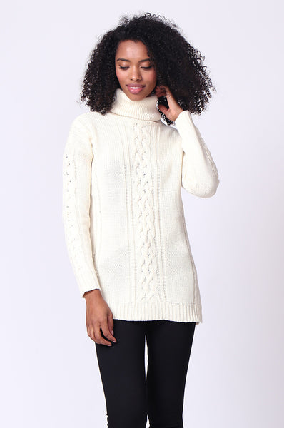 CABLE TURTLE NECK JUMPER