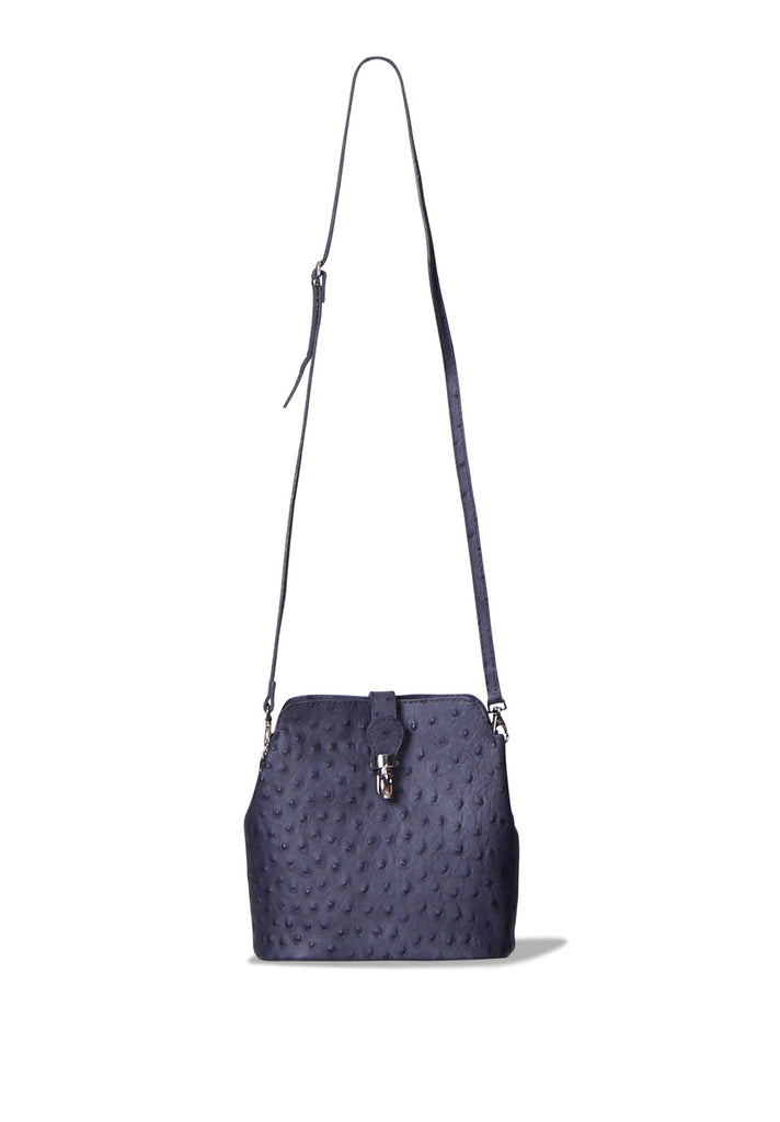 SP0267-GREY OSTRICH PATTERN MINI BAG
