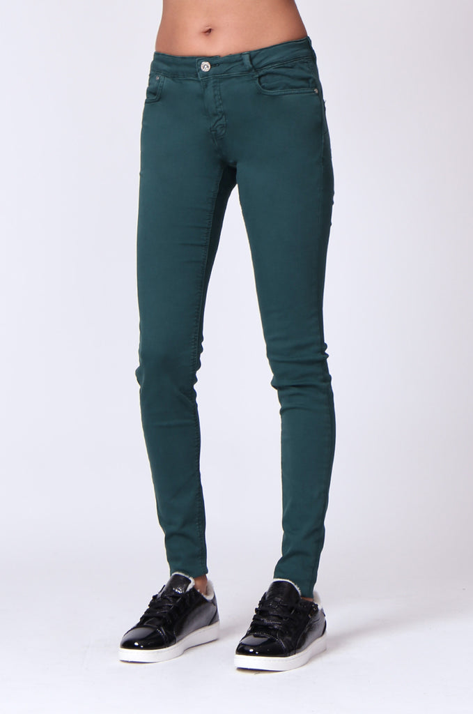 SF0027-GREEN TWIL SKINNY JEANS view 4
