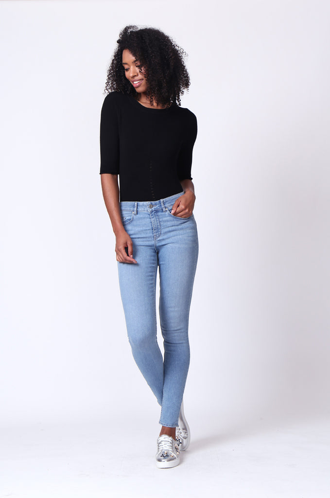 SF0161-LIGHT BLUE BASIC SKINNY JEAN