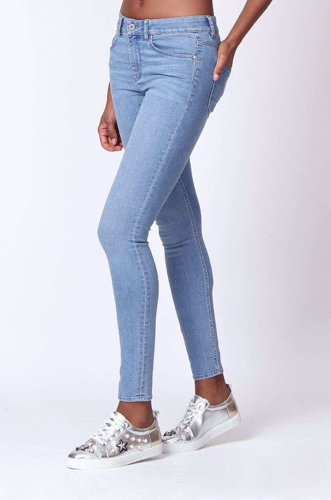 SF0161-LIGHT BLUE BASIC SKINNY JEAN view 5