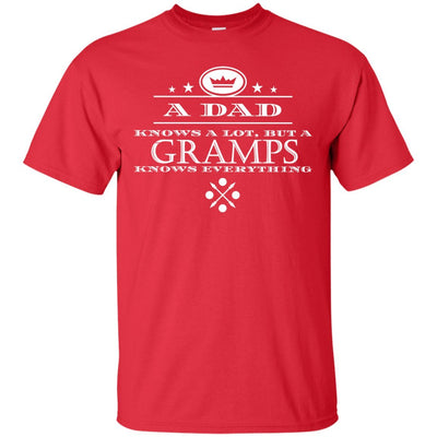 A Dad knows a lot, but a Gramps knows everything - Shirt - Great gift for Gramps-For Grandparents Only