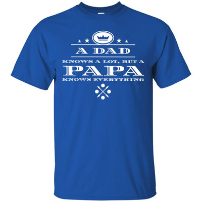 A Dad knows a lot, but a Papa knows everything - Shirt - Great gift for Papa-For Grandparents Only