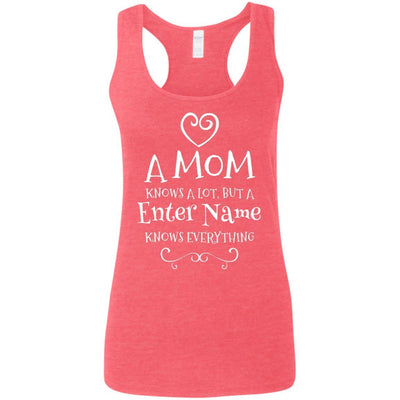 A Mom knows a lot, but a (Enter Name) knows everything - Tank Top-For Grandparents Only