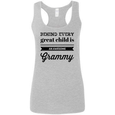 Behind every great child is an awesome Grammy - Tank Top - Great gift for Grammy-For Grandparents Only