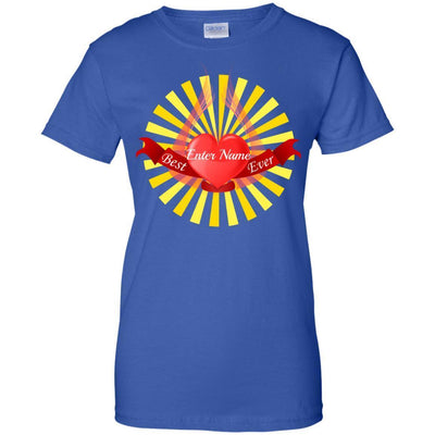 Best (Enter Name) Ever - Heart with Wings and Sun - Slim Fit Shirt-For Grandparents Only