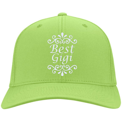 Best Gigi - Port & Co. Embroidered Cotton Twill Cap - Great gift for Gigi-For Grandparents Only