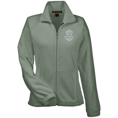 Best Grams - Harriton Women's Embroidered Fleece Jacket - Great gift for Grams-For Grandparents Only