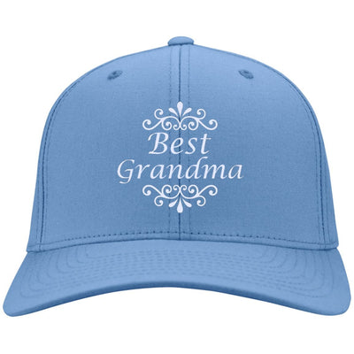 Best Grandma - Port & Co. Embroidered Cotton Twill Cap - Great gift for Grandma-For Grandparents Only