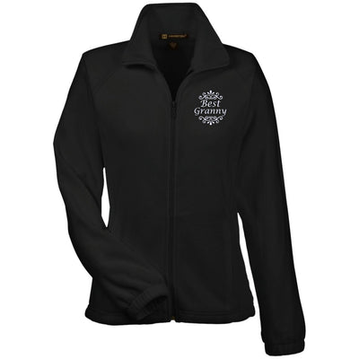 Best Granny - Harriton Women's Embroidered Fleece Jacket - Great gift for Granny-For Grandparents Only