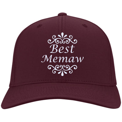 Best Memaw - Port & Co. Embroidered Cotton Twill Cap - Great gift for Memaw-For Grandparents Only