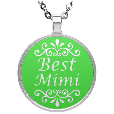 Best Mimi - Circle Pendant Necklace - Great gift for Mimi-For Grandparents Only
