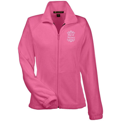 Best Mimi - Harriton Women's Embroidered Fleece Jacket - Great gift for Mimi-For Grandparents Only