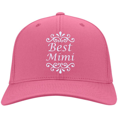 Best Mimi - Port & Co. Embroidered Cotton Twill Cap - Great gift for Mimi-For Grandparents Only