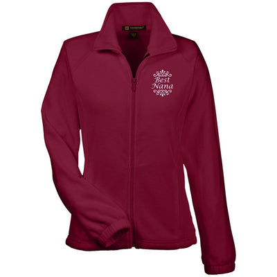Best Nana - Harriton Women's Embroidered Fleece Jacket - Great gift for Nana-For Grandparents Only