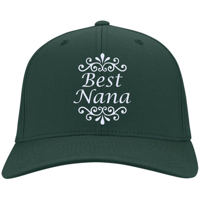 Best Nana - Port & Co. Embroidered Cotton Twill Cap - Great gift for Nana-For Grandparents Only