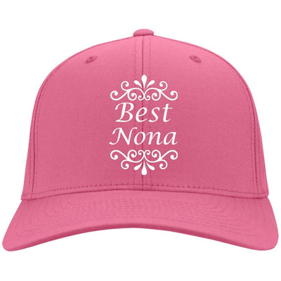 Best Nona - Port & Co. Embroidered Cotton Twill Cap - Great gift for Nona-For Grandparents Only