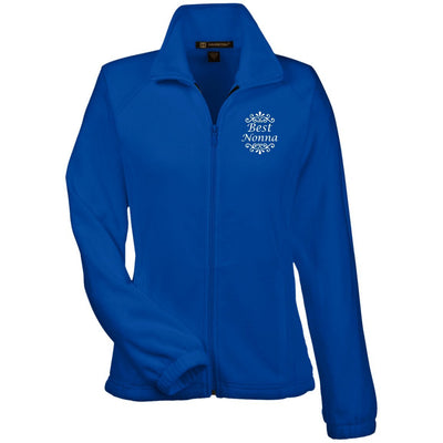 Best Nonna - Harriton Women's Embroidered Fleece Jacket - Great gift for Nonna-For Grandparents Only