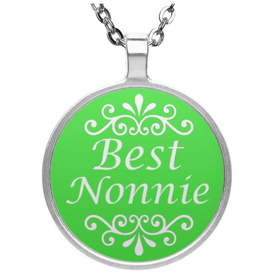 Best Nonnie - Circle Pendant Necklace - Great gift for Nonnie-For Grandparents Only
