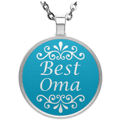 Best Oma - Circle Pendant Necklace - Great gift for Oma-For Grandparents Only