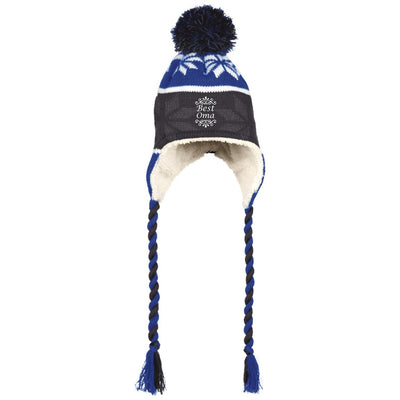 Best Oma - Holloway Hat with Ear Flaps and Braids - Great gift for Oma-For Grandparents Only