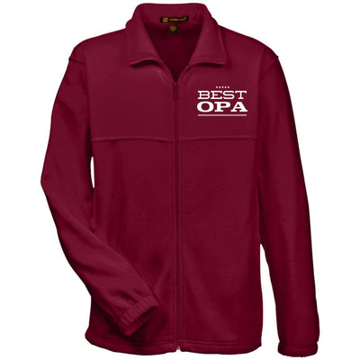 Best Opa - Harriton Men's Embroidered Fleece Jacket - Great gift for Opa-For Grandparents Only