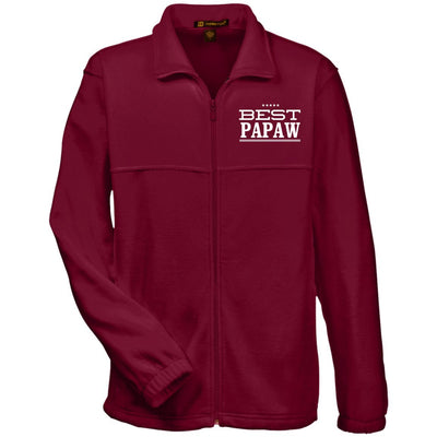 Best Papaw - Harriton Men's Embroidered Fleece Jacket - Great gift for Papaw-For Grandparents Only