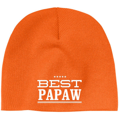 Best Papaw - Port & Co. Embroidered Beanie Skull Cap - Great gift for Papaw-For Grandparents Only
