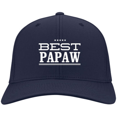 Best Papaw - Port & Co. Embroidered Cotton Twill Cap - Great gift for Papaw-For Grandparents Only