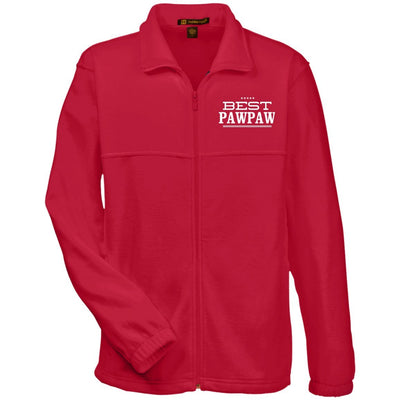 Best Pawpaw - Harriton Men's Embroidered Fleece Jacket - Great gift for Pawpaw-For Grandparents Only
