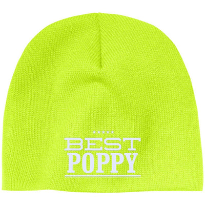 Best Poppy - Port & Co. Embroidered Beanie Skull Cap - Great gift for Poppy-For Grandparents Only