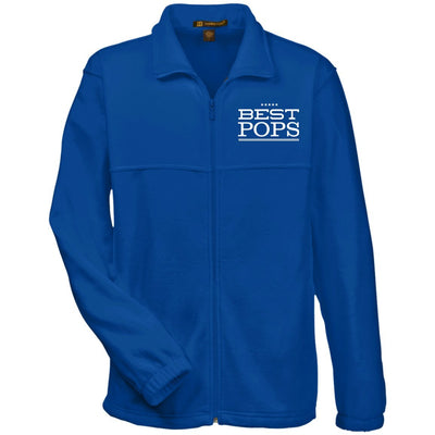 Best Pops - Harriton Men's Embroidered Fleece Jacket - Great gift for Pops-For Grandparents Only