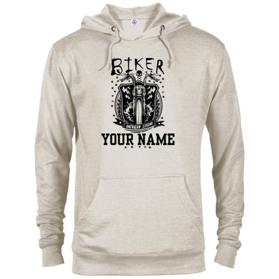 Biker (Your Name) - Motorcycle riding Grandparent - Hoodie-For Grandparents Only