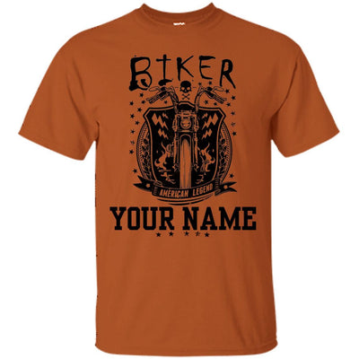 Biker (Your Name) - Motorcycle riding Grandparent - Shirt-For Grandparents Only