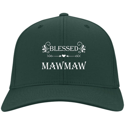 Blessed Mawmaw - Port & Co. Embroidered Cotton Twill Cap - Great gift for Mawmaw-For Grandparents Only