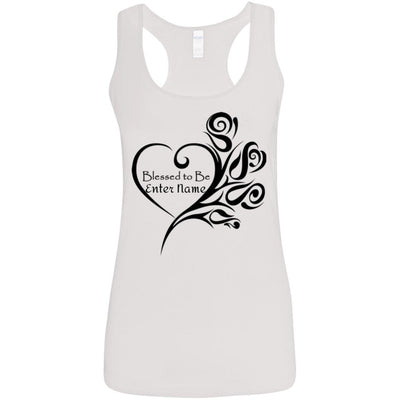 Blessed to Be (Enter Name) Heart w/Roses - Tank Top-For Grandparents Only