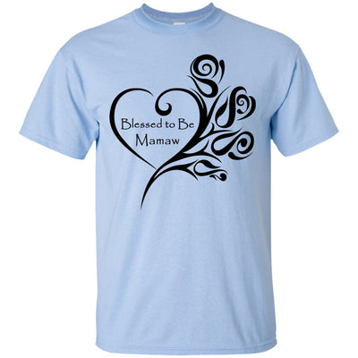 Blessed to Be Mamaw Heart w/Roses - Shirt - Great gift for Mamaw-For Grandparents Only
