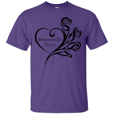 Blessed to Be Nana Heart w/Roses - Shirt - Great gift for Nana-For Grandparents Only