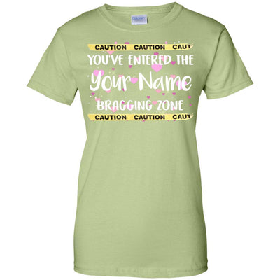 Caution. You've entered the (Your Name) bragging zone - Slim Fit Shirt-For Grandparents Only