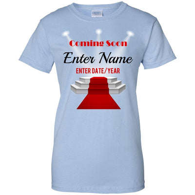 Coming Soon.. (Enter Name) (Enter Date/Year) Newborn baby reveal - Slim Fit Shirt-For Grandparents Only