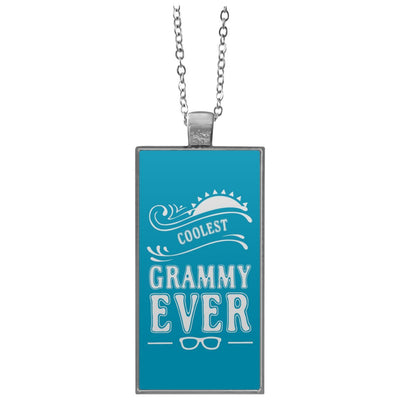 Coolest Grammy Ever - Rectangle Pendant Necklace - Great gift for Grammy-For Grandparents Only
