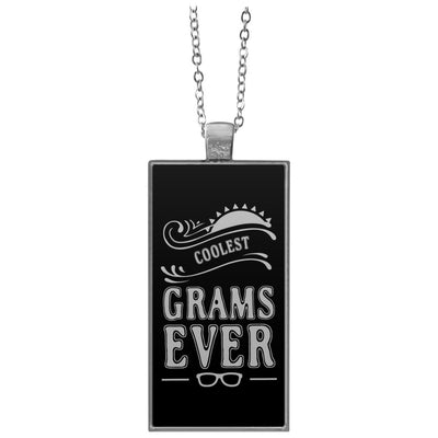 Coolest Grams Ever - Rectangle Pendant Necklace - Great gift for Grams-For Grandparents Only