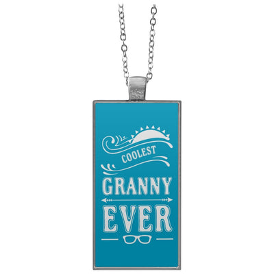 Coolest Granny Ever - Rectangle Pendant Necklace - Great gift for Granny-For Grandparents Only