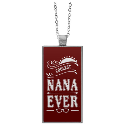 Coolest Nana Ever - Rectangle Pendant Necklace - Great gift for Nana-For Grandparents Only