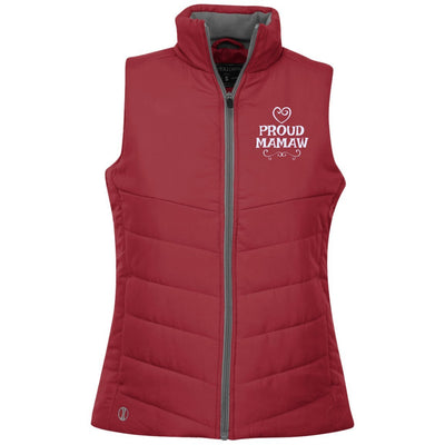 Proud Mamaw - Embroidered Holloway Ladies' Quilted Vest - Great gift for Mamaw-For Grandparents Only