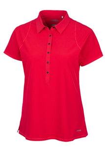 Perforated Short Sleeve Polo LAW00001 MEDIUM Wild Red