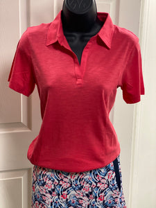 Ahead Carlyle Cotton Modal Ladies Polo SK12 Pomegrant